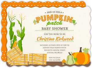 Fun Pumpkin Patch Gender Neutral Baby Shower Invitation
