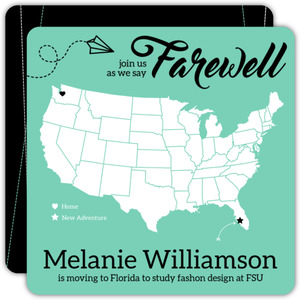 Farewell States Going Away Party Invitation