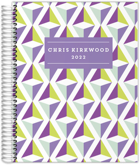 Geometrical Violet Daily Planner