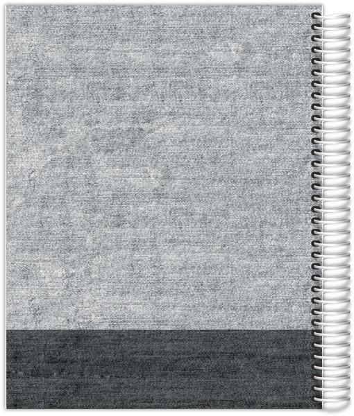 Dark Grey Denim Weekly Planner