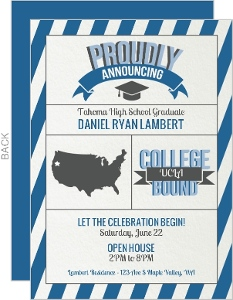 Modern Graphics Graduation Invitation