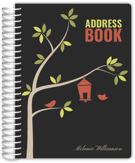 Cute Birdhouse Address Book