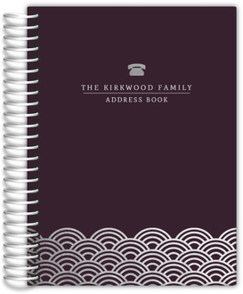 Faux Foil Scallop Address Book