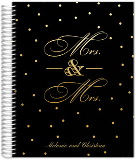 Faux Gold Mrs and Mrs Wedding Planner