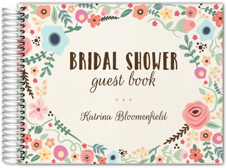 Whimsical Garden Frame Bridal Shower Guest Book