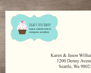 Sweet Cupcake Address Label