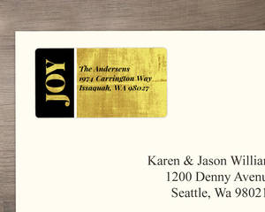 Modern Gold And Black Return Address Labels