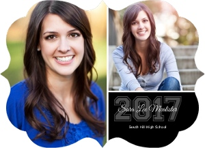 Black Houndstooth Graduation Announcement