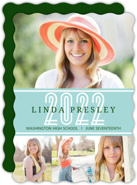 Light Green Graduation Announcement