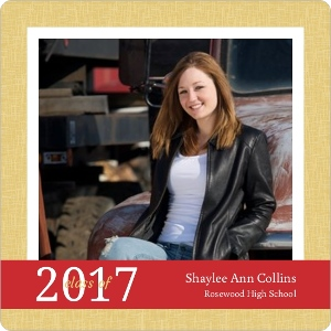 Simple Gold Magnet Graduation Announcement