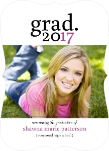 Simple Pink Graduation Announcement