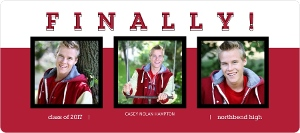 Regal Red Graduation Announcement