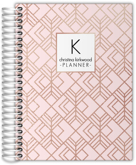 Blush Faux Rose Gold Wedding Planner