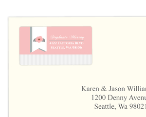 Light Pink Floral Address Label