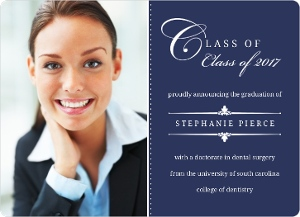 Blue Classic Frame Graduation Announcement