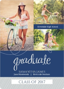 Whimsical Heart Graduation Announcement