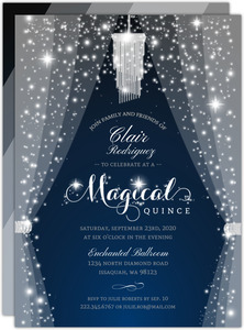 Sparkly & Magical Quinceanera Invitation
