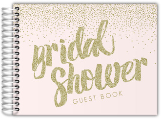 Faux Gold Glitter Bridal Shower Guest Book