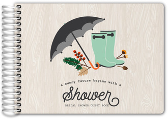 Rustic Rain Boots and Foliage Bridal Shower Guest Book