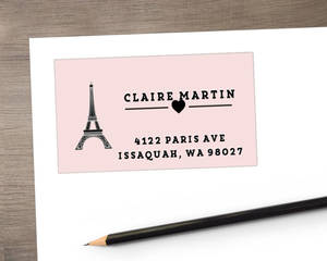 Whimsical Eiffel Tower Address Label