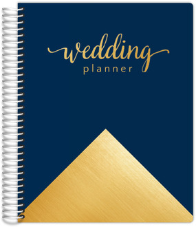 Faux Gold Foil Gorgeous Blue Wedding Planner