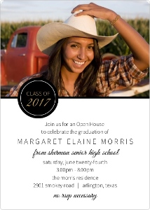 Black Multi Photo Graduation Invitation