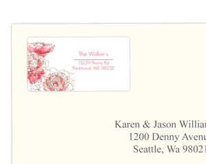 Peony Address Label