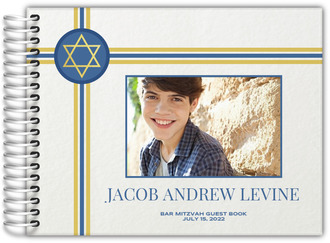 Classic Stripes Bar Mitzvah Guest Book