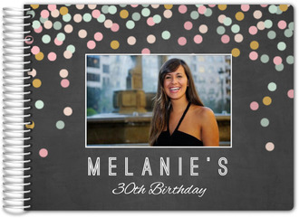 Chalkboard Colorful Confetti Birthday Guest Book