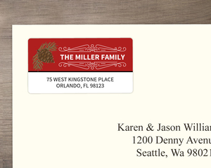 Red Pine Custom Address Label