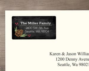 Pine Chalkboard Address Labels
