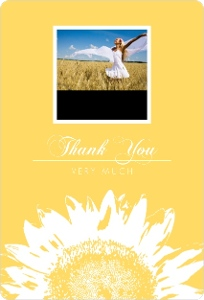 Yellow Sunflower Photo Thank You Magnet