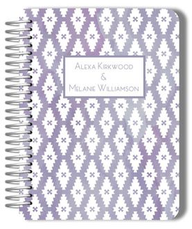 Purple Watercolor Pattern Gay Wedding Planner