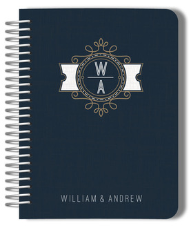 Modern Crest Monogram Gay Wedding Planner