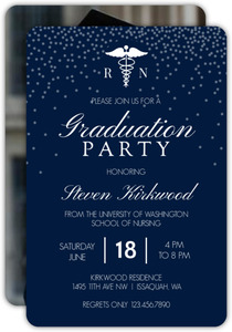 Nursing school graduation invitations nursing school graduation white confetti nusing school graduation invitation filmwisefo