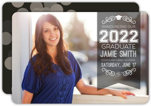 Simple Modern Graduation Announcement
