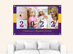 School Colors Favorite Moments Graduation Banner
