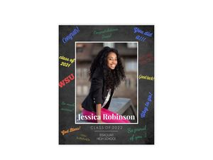 Colorful Messages Chalkboard Graduation Poster
