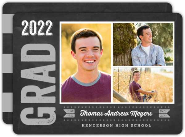 Bold Chalkboard Graduation Announcement