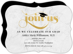 Classic Marble Graduation Party Invitation