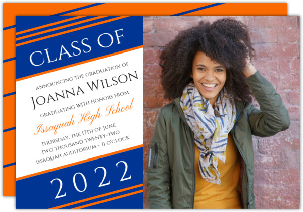 Simple Diagonal Stripes Graduation Announcement