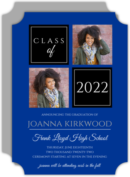 Organized Color Photo Grid Graduation Announcement
