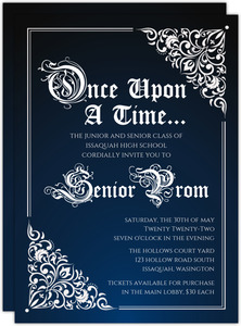 Fairy Tale Prom Invitation  Prom Invitation Templates