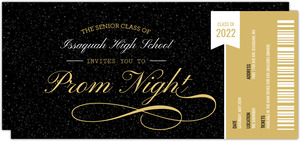 Prom Ticket Stub Prom Invitation