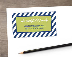 Blue And Green Cheerful Address Label