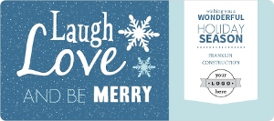 Love Laugh Be Merry Business Holiday Card