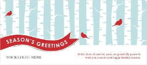 Soft Blue Birch Business Holiday Greeting Card Magnet