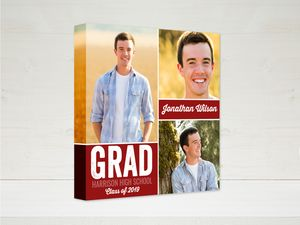 Color Block Graduation Canvas Print