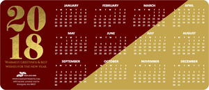 Two Tone Color Calendar Business Holiday Magnet