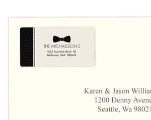 Black and Cream Vintage Formal Wear Address Label